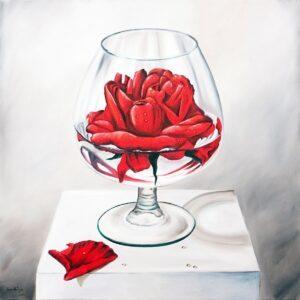 Frank Krüger - Vaso con Rosa