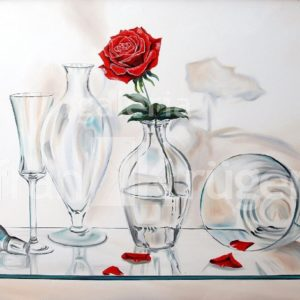 Frank Krüger - Vasos con Rosa