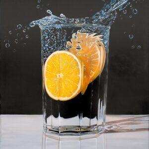 Frank Krüger - Vaso con Naranja
