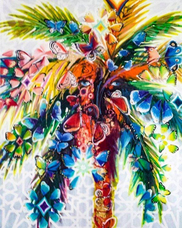 Living palm